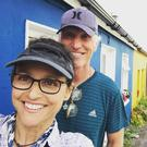 Julia Louis Dreyfus with husband Brad Hall in Ireland. Picture: Instagram