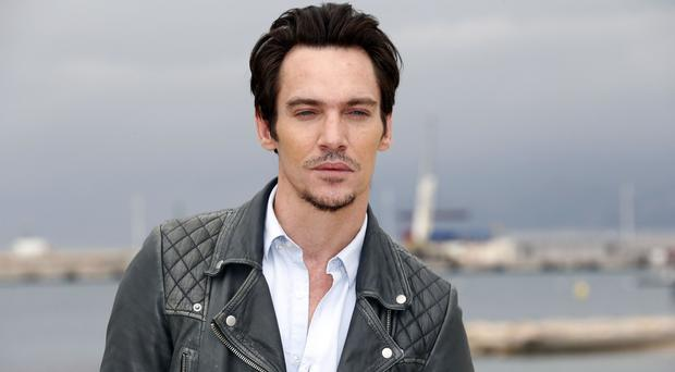Irish actor Jonathan Rhys-Meyers poses for a photocall for a TV serie