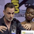 Danai Gurira, right, looks on as Andrew Lincoln speaks at Comic-Con (Richard Shotwell/Invision/AP)