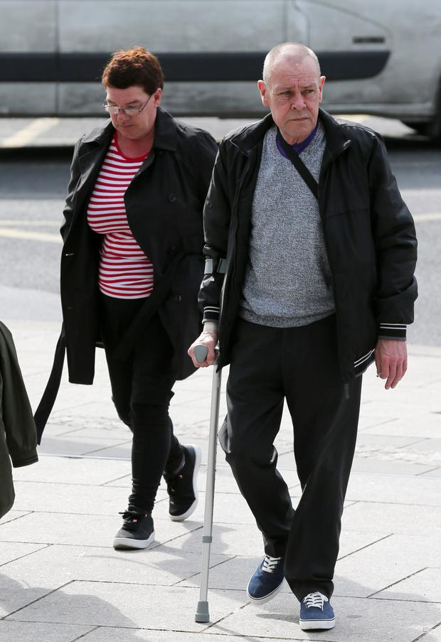 Annette (57) and Edward McCluskey (61) of Pearse House in Dublin, pictured at the Dublin Circuit Criminal Court where they both received suspended sentences Pic Collins Courts.