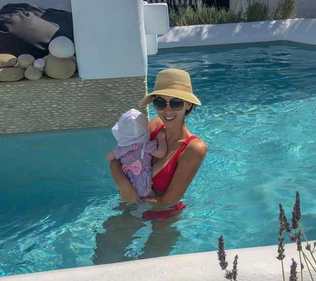 Georgia Penna with her baby daughter. Picture: Instagram