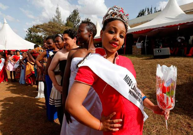 Ruth Kamande poses during a prison beauty pageant Photo: REUTERS