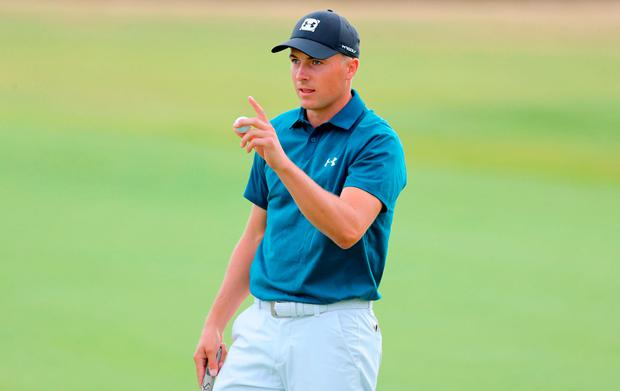 USA's Jordan Spieth acknowledges the crowd at the end of his round on the 18th during day three of The Open Championship 2018 at Carnoustie Golf Links, Angus. Picture date: Saturday July 21, 2018. See PA story GOLF Open. Photo credit should read: Richard Sellers/PA Wire.