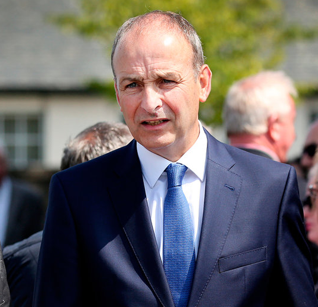 Micheal Martin Picture: Steve Humphreys