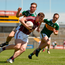 Pádraic Cunningham of Galway in action against Dan O'Donoghue of Kerry during the GAA Football All-Ireland Junior Championship Final match between Kerry and Galway at Cusack Park in Ennis, Co. Clare. Photo by Diarmuid Greene/Sportsfile