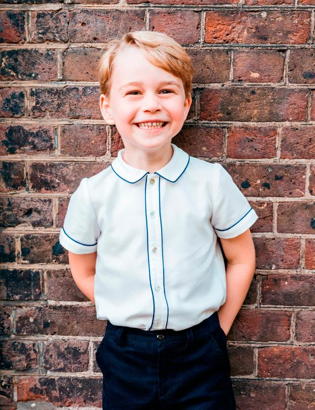 Prince George celebrates his 5th birthday in adorable new photo