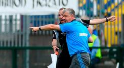 Roscommon manager Kevin McStay remonstrates with an official