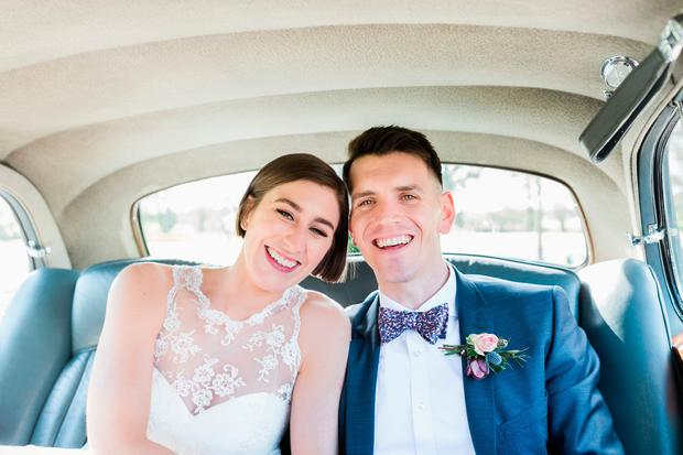1fbc8f49461 Couple tied the knot in Dundrum before heading to the stunning Tankardstown  House for their reception (but not before sitting in traffic on the M50 for  some ...