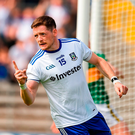 Conor McManus of Monaghan celebrates after scoring his side's first goal