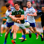 Stephen O'Brien of Kerry is tackled by Karl O'Connell of Monaghan
