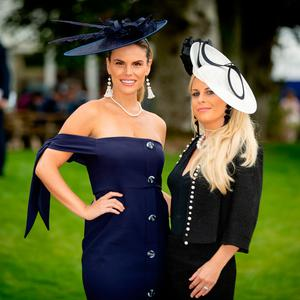 Rosalind and Sarah Lipsett at the Curragh Racecourse. Picture:©INPHO/Morgan Treacy