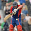 Clontarf's Andrew Poynter hit a whirlwind 53 not out from just 28 balls. Photo: Brian Lawless/Sportsfile