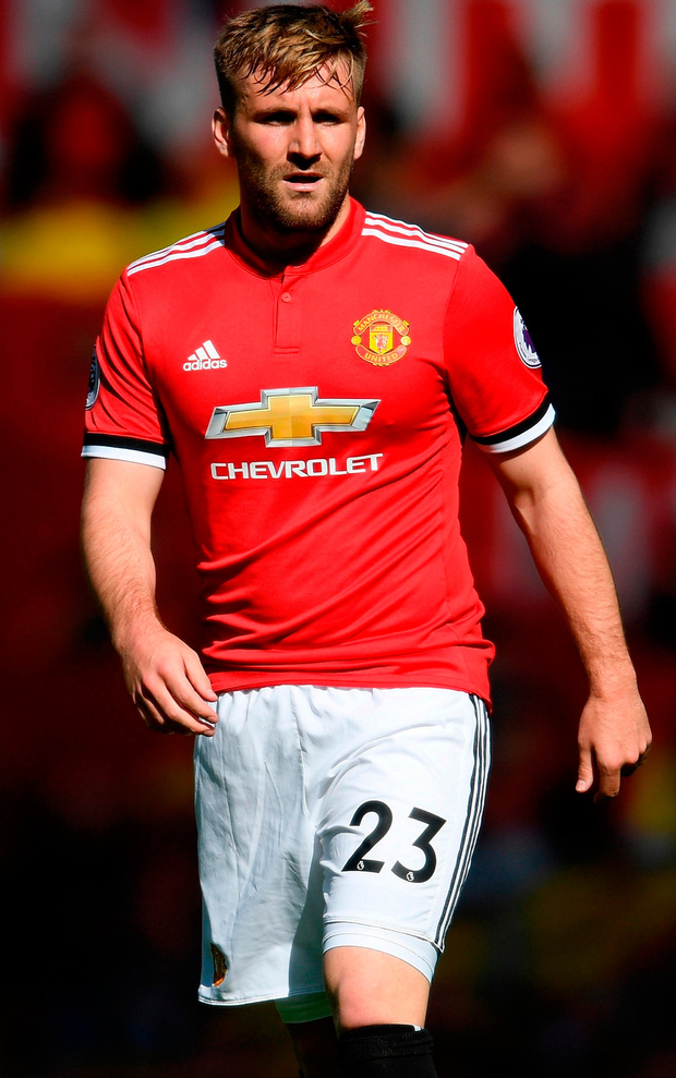 Luke Shaw will almost certainly remain at Old Trafford for at least another season. Photo: Ross Kinnaird/Getty Images
