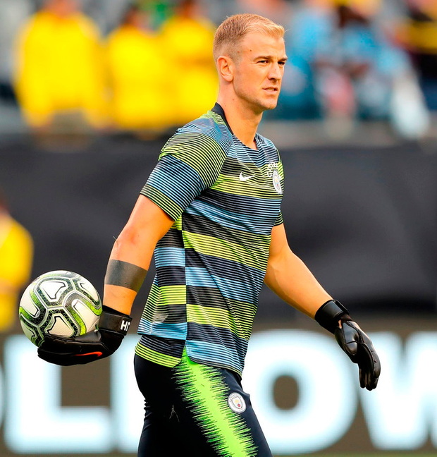 Joe Hart knows there is no future for him in Manchester. Photo: Elsa/Getty Images
