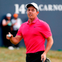 Rory McIlroy reacts on the 18th during the final round. Photo: Andrew Yates/Reuters