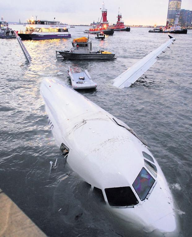 US Airways Flight 1549 had to ditch in the Hudson river. Photo: Edouard H. R. Gluck