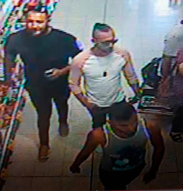 Police have released Rachael Burnett CCTV images of three men they want to speak to about the 'evil' attack. Photo: PA