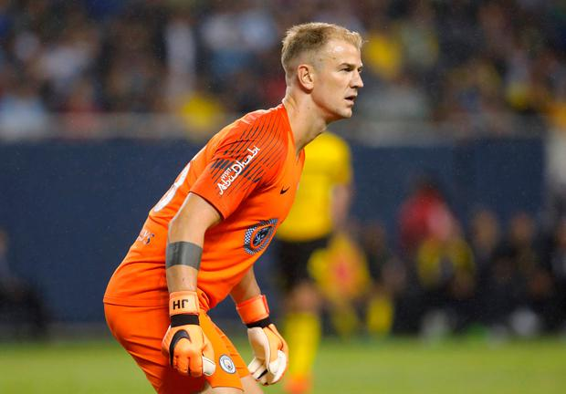 Joe Hart in action. Photo: Reuters