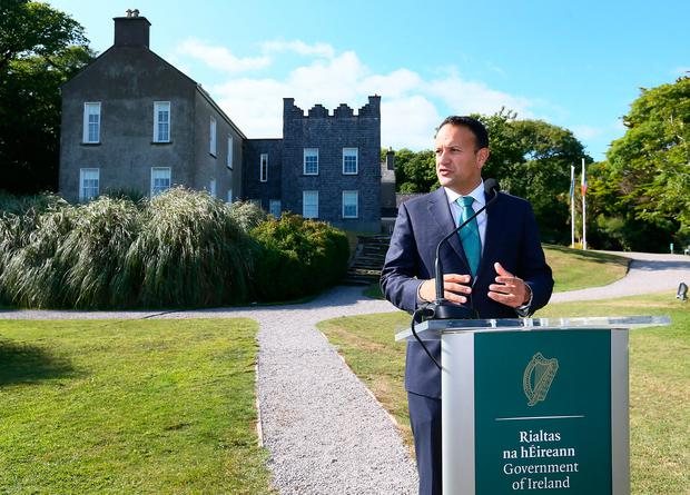 Leo Varadkar will impress the importance of the backstop. Photo: Frank McGrath