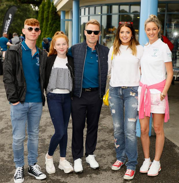Jack, Ali, Ronan, Missy and Storm Keating at the 2018 Marks & Spencer Ireland Marie Keating Foundation Celebrity Golf Classic. Picture: Kieran Harnett