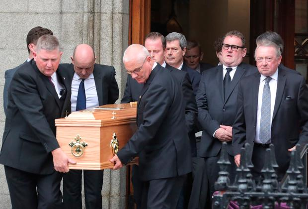 Colm Meaney follows his mother's coffin. Photo: Colin Keegan