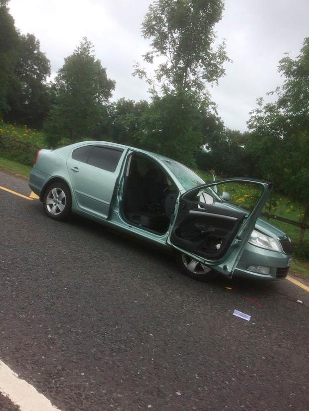 Car ramming incident in Co Longford.