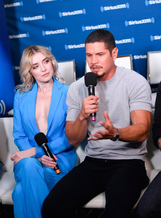 Sarah Bolger and J. D. Pardo attend SiriusXM's Entertainment Weekly Radio Broadcasts Live From Comic Con in San Diego at Hard Rock Hotel San Diego on July 20, 2018 in San Diego, California. (Photo by Vivien Killilea/Getty Images for SiriusXM)