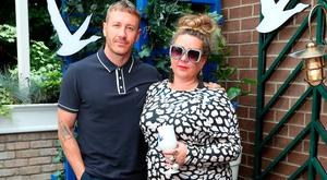 Artist Maser and Andrea Horan at the launch of OFF SCRIPT, a GREY GOOSE Production, at the Iveagh Garden Hotel. Picture: Mark O'Sullivan