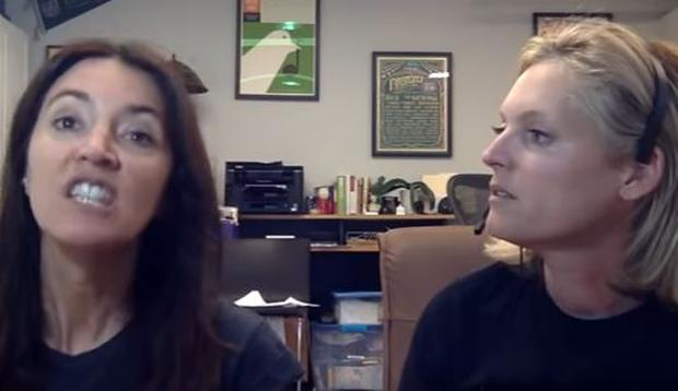 Whitney Cicero and Angela Hoover on The New Stepford. PIC: YouTube