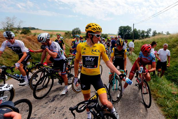 Tour chaos: Stage 16 halted as riders sprayed in eyes