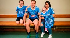 John Small along with Evie Groves, her mother Lorraine and her brother Sean