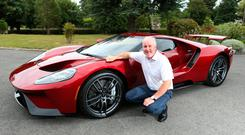 Ford Ireland chairman and managing director Ciarán McMahon with the Ford GT