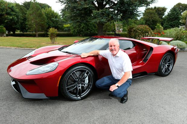 Ford Ireland Chairman And Managing Director Ciaran Mcmahon With The Ford Gt