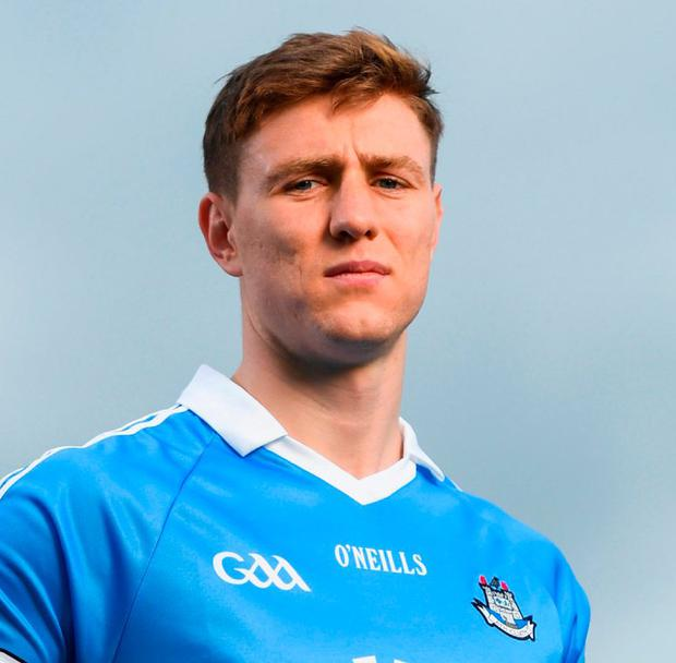 John Small with the charity logo that will appear on the Dublin jersey. Photo: David Fitzgerald/Sportsfile