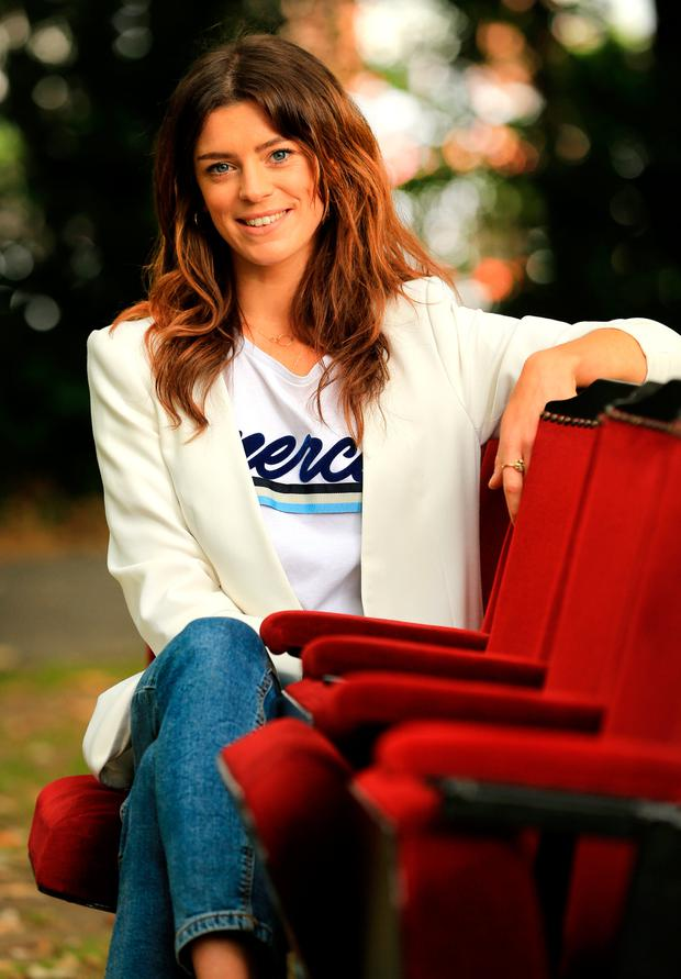 Aoibhínn McGinnity at the launch of the 61st Dublin Theatre Festival yesterday. Photo: Gerry Mooney