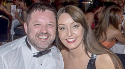 Missing man Brian O'Callaghan-Westropp and Zoe Holohan, who were on their honeymoon in Greece