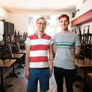 Top chefs: Barry Sun Jian and Paul McNamara at Etto. Photo: Tony Gavin