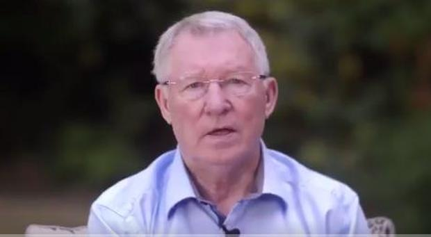 Alex Ferguson has thanked fans around the world for their support in his first public appearance since undergoing emergency surgery for a brain haemorrhage in May.