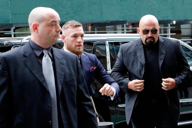 Conor McGregor arrives at Brooklyn court