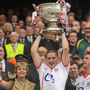 Daniel Goulding lifts the Sam Maguire for Cork in 2010. Photo: Dire Brennan