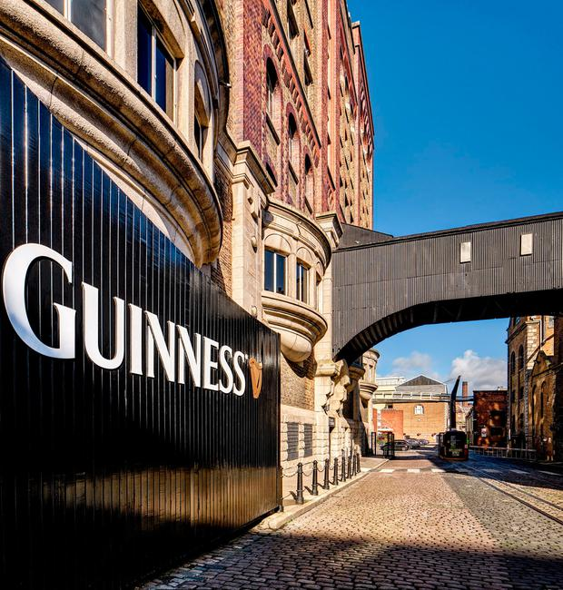 The Guinness Storehouse at St James's Gate in Dublin - sales of Guinness in Europe rose by 6pc, driving overall sales growth