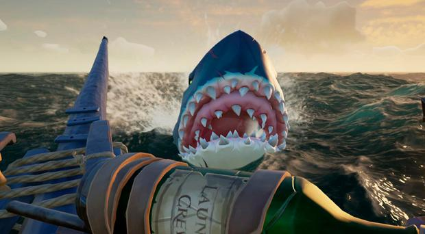 The Megalodon in Sea of Thieves