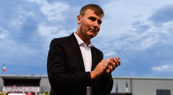 Dundalk manager Stephen Kenny following the UEFA Europa League 2nd Qualifying Round First Leg match between Dundalk and AEK Larnaca at Oriel Park in Dundalk, Co. Louth.