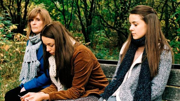 Siobhan Finneran, Sacha Parkinson and Molly Wright in 'Apostasy'