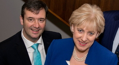 Business Minister Heather Humphreys and Junior Finance Minister Michael D'Arcy at the launch of the Cost of Insurance Working Group report. Photo: Fennell Photography