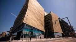 The Central Bank of Ireland on Dublin's North Wall Quay. Photographer: Jason Alden/Bloomberg