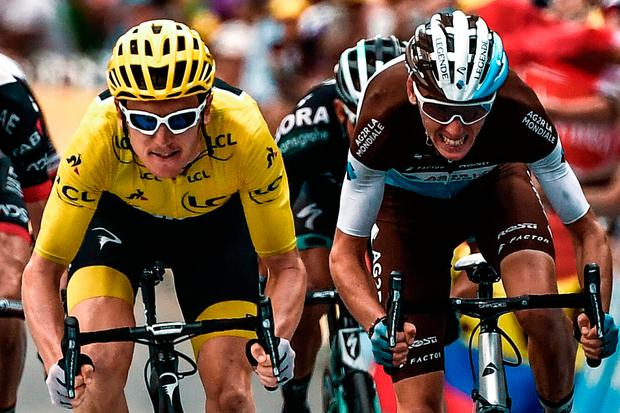CLOSING IN: Geraint Thomas extended his lead in the Tour de France. Pic: Getty Images