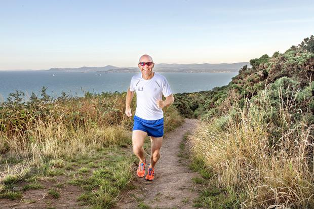 Ger Copeland out running in Howth. Photo: Tony Gavin