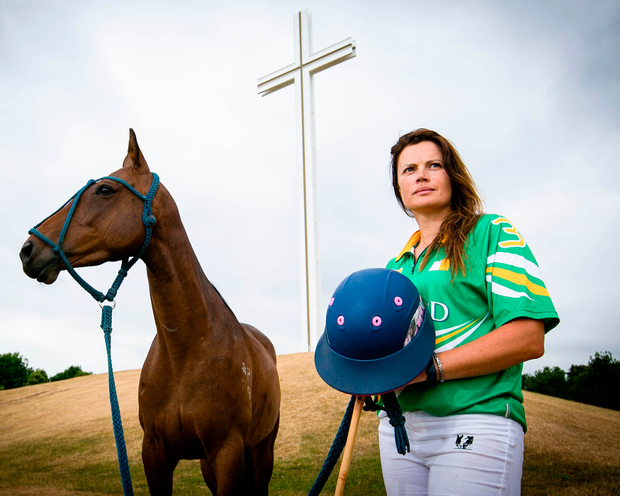 Siobhan Herbst who sells former Irish racehorses to the international polo market Photo: SON Photographic