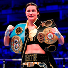 Katie Taylor registered a comfortable win. Photo: Stephen McCarthy/Sportsfile